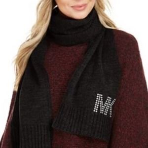 Michael Michael Kors Black Knitted Scarf